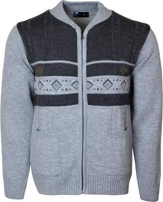 Kentex Online Men's Knitted Cardigan Front Zip Closure Dual Tone ZipPEr Top