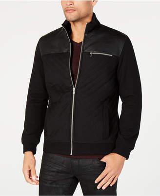 INC International Concepts I.n.c. Men Faux Fur Lined Faux Leather Jacket