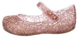 Mini Melissa Girls' Rubber Round-Toe Flats
