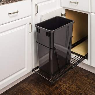 Hardware Resources Steel Pull Out/Under Counter Trash Can Holder