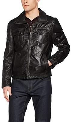 Gipsy by Mauritius Men's Leather Long Sleeve Jacket - Black