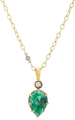 Cathy Waterman Women's Emerald & Diamond Pendant