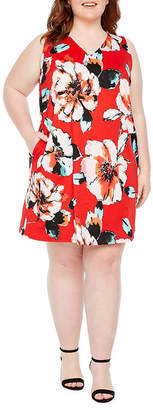Alyx Sleeveless Floral Shift Dress - Plus