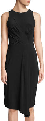 Taylor Pleated Knotted-Front Cocktail Dress