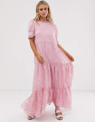 Sister Jane tiered maxi dress in ditsy vintage floral