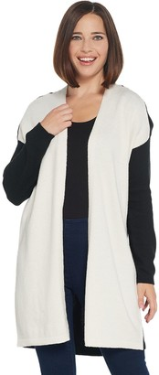 Vince Camuto Open Front Color-Block Cardigan