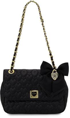 Betsey Johnson Be Mine Quilted Shoulder Bag, Black $80 thestylecure.com