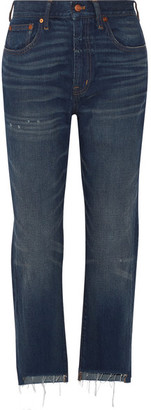 Madewell - Perfect Vintage High-rise Straight-leg Jeans - Dark denim $130 thestylecure.com