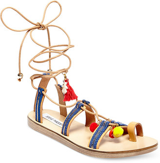 Steve Madden Women's Cailin Lace-Up Sandals $89 thestylecure.com