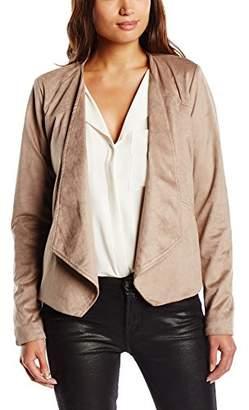 Minimum Women's Lay Long Sleeve Faux Leather Track Jacket,(Manufacturer Size: 34)