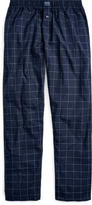 Ralph Lauren Windowpane Cotton Pajama Pant