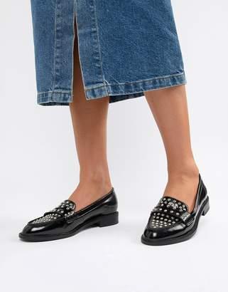 4e4b1ca0cb9a Asos Design DESIGN Memory studded loafer flat shoes