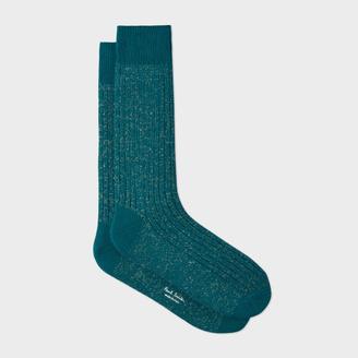 Men's Petrol Glittered Socks $30 thestylecure.com
