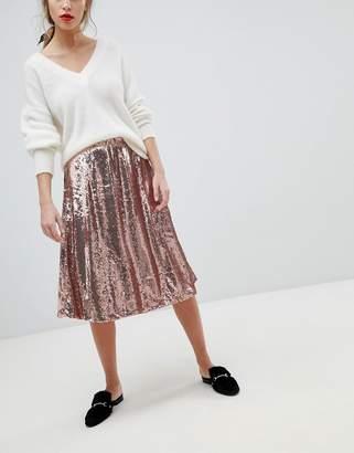 Vila Sequin Skirt
