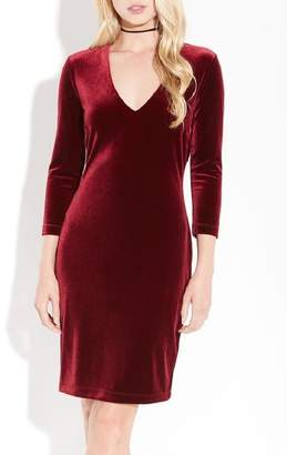 Karen Kane Velvet V-Neck Sheath