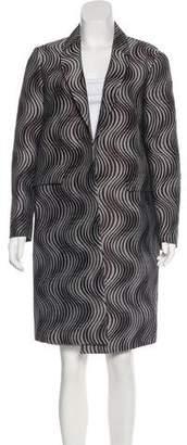 Dries Van Noten Wool-Blend Jacquard Coat