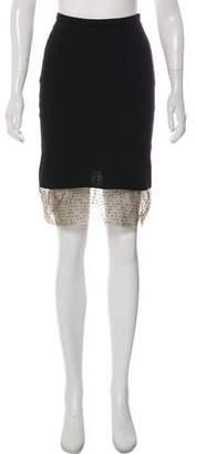 Gianni Versace Knee-Length Wool-Blend Skirt