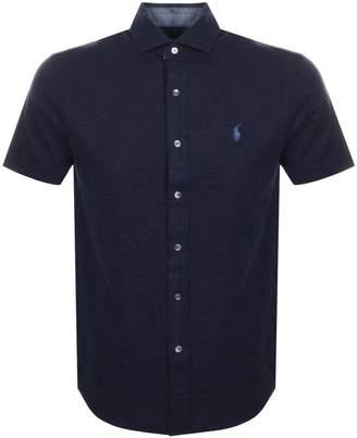 Ralph Lauren Custom Slim Fit Polo T Shirt Navy