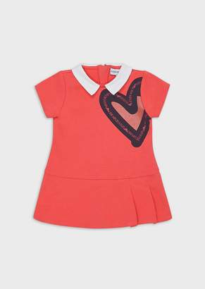 Emporio Armani Jersey Fleece Dress With Maxi-Heart