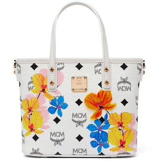 MCM Essential Top Zip Shopper In Floral Print Visetos