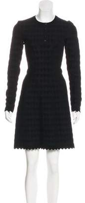Alaia Knit Jacquard Dress w/ Tags
