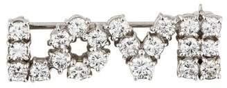 Platinum Diamond 'Love' Brooch