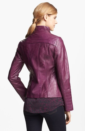 LaMarque Funnel Neck Leather Jacket 2