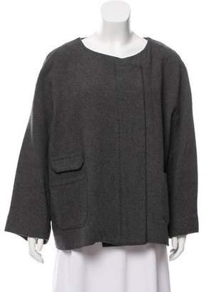 IRO Virgin Wool Blend Zip-Up Coat