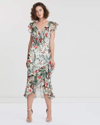 Cooper St Salsa Frill Sleeve Midi Dress