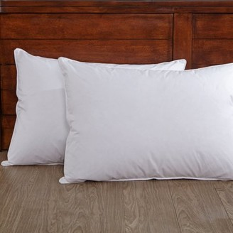Pure Down Puredown White Down Pillow 100% Cotton Fabric, Queen Size, Set of 2