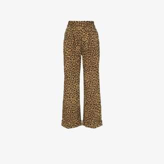 972956893c Mara Hoffman Caressa leopard print high-waisted wide leg trousers
