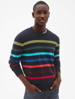 Gap Crazy Stripe Crewneck Pullover Sweater