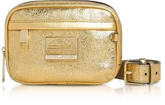 Marc Jacobs Gold Leather Sport Belt Bag