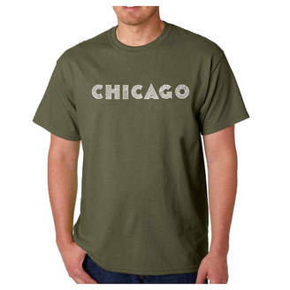 LOS ANGELES POP ART Los Angeles Pop Art Chicago Neighborhoods Short Sleeve Word Art T-Shirt