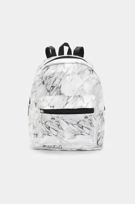Ardene Marble Faux Leather Mini Backpack