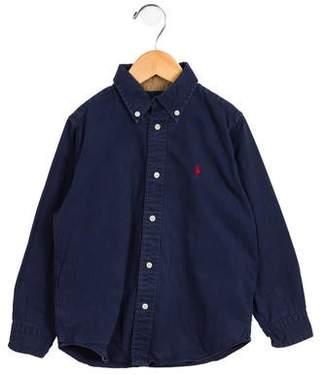 Ralph Lauren Boys' Pointed Collar Button-Up Shirt