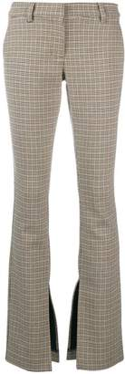 A.L.C. checked slit detail trousers