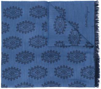Salvatore Ferragamo jacquard scarf