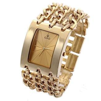 Dolce & Gabbana THE BRAND G&D Women's Stainless Steel Band Multi-Chain -Tone Bracelet Watch