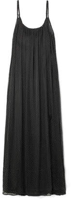 Mes Demoiselles Andro Embellished Crinkled-chiffon Maxi Dress - Black