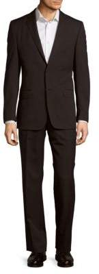Versace Pinstripe Wool Cut Suit