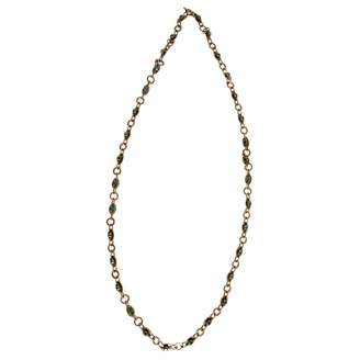 Lanvin Green Metal Necklace