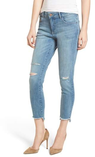 Florence Instasculpt Ripped Crop Skinny Jeans