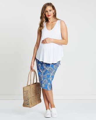 Angel Maternity Paisley Skirt & Top Set