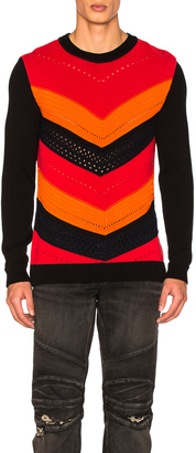 BALMAIN Chevron Sweater $965 thestylecure.com