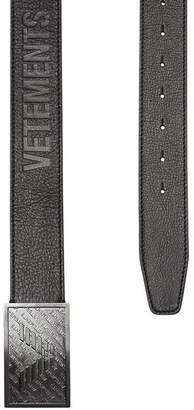 Vetements Leather Belt with Embossed Buckle