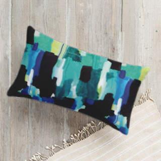 Waiting - Textile Lumbar Pillow
