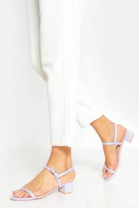 boohoo Skinny Strap Low Block Heels