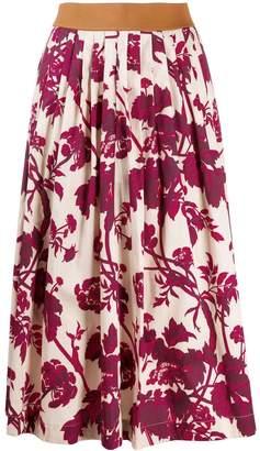 Antonio Marras pleated floral print skirt