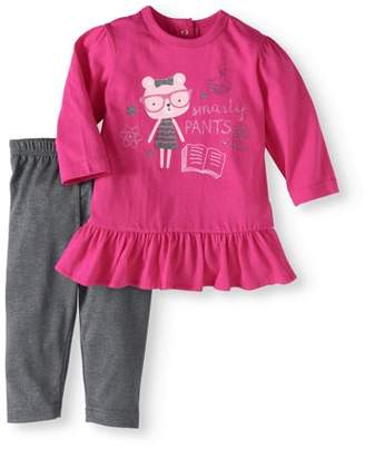 Bon Bebe Baby Girl Tunic & Leggings, 2pc Outfit Set